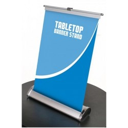 Tabletop Breeze Banner Stand and Print